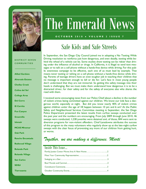 The Emerald News: Volume 2, Issue 7 (October 2010)