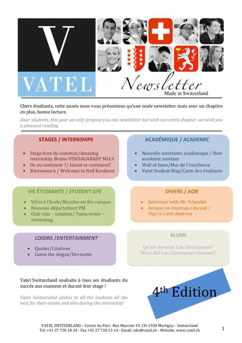 Newsletter edition 4