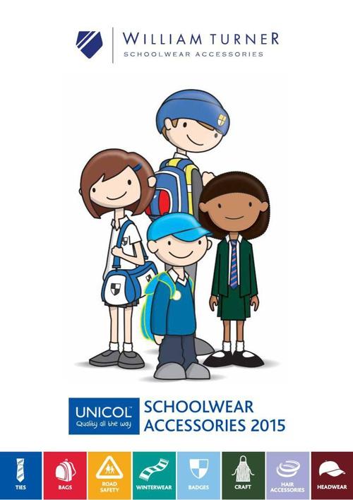 William Turner Unicol Schoolwear Accessories 2015