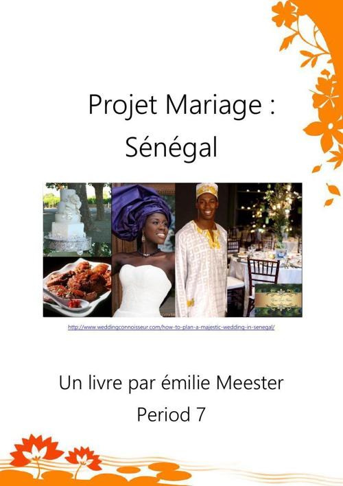 Projet Mariage: Senegal