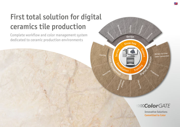 Flyer Digital Ceramics Tile Production English