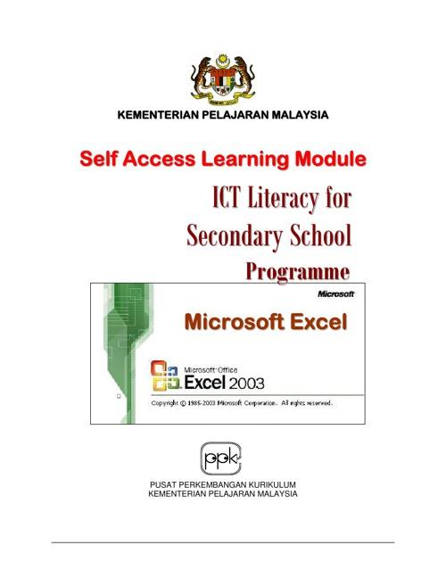 Module MS Excel 2003