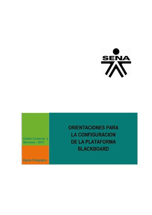 """""""Orientaciones para la configuración de la plataforma Blackboard"""