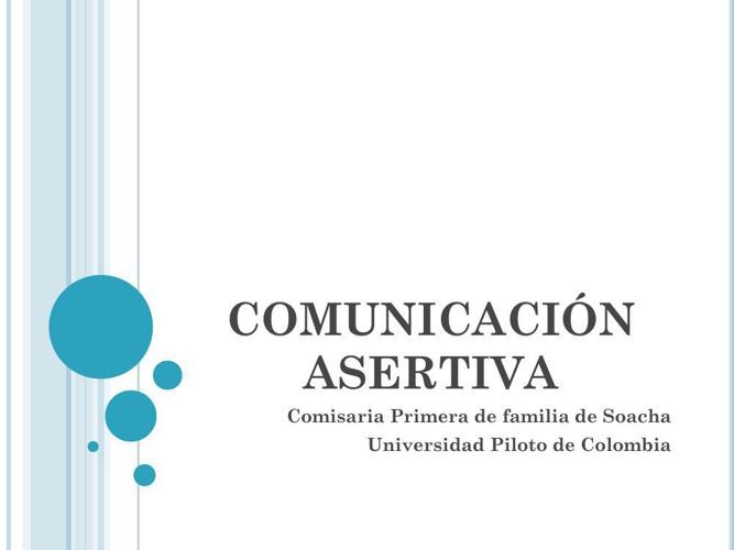 MILE-COMUNICACIÓN ASERTIVA EXPOSICION COMISARIA