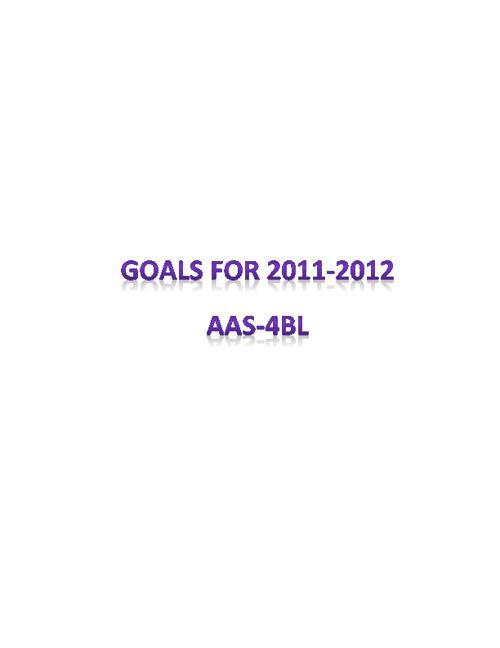 4BL: Goals 2011-2012