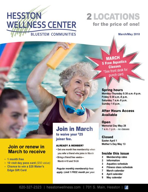 Spring 2018 | Bluestem Wellness Centers News