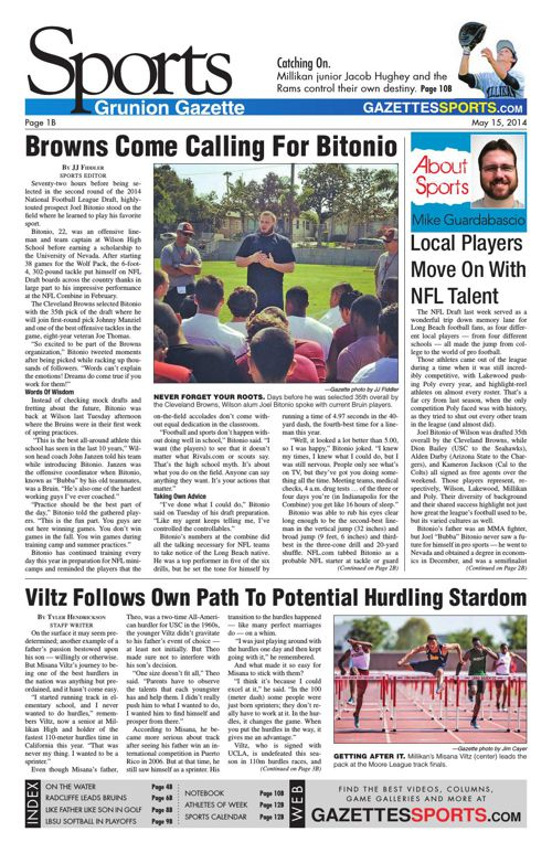 Gazette Sports   May 15, 2014