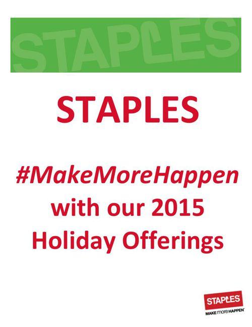 STAPLES 2015 Holiday Lookbook