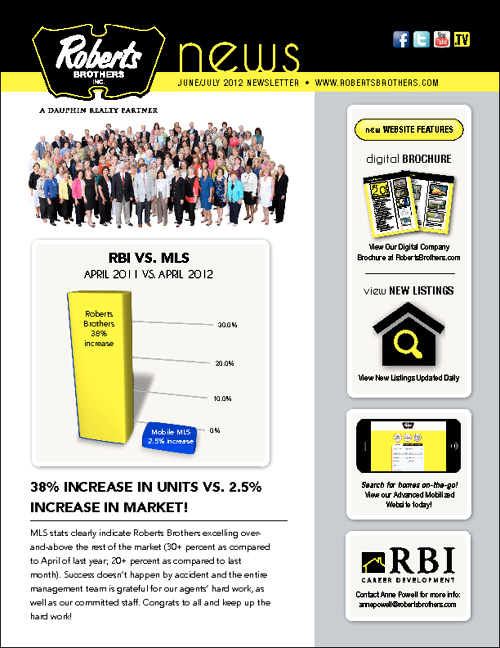 August 2012 RBI Newsletter