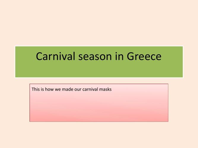 Melahrini / Greece - Canival 1