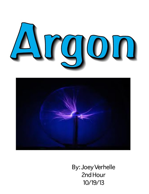 Element Research Project - Argon