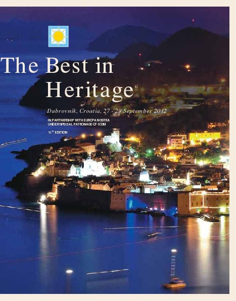 The Best in Heritage 2012 conference publication
