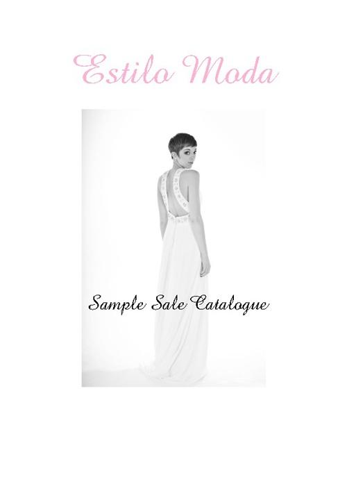 Estilo Moda Wedding Dress Sample Sale Catalogue