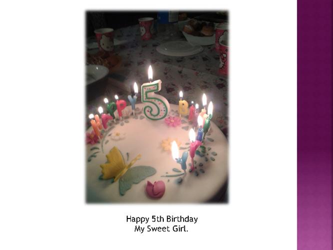 Happy 5th Birthday Eboni