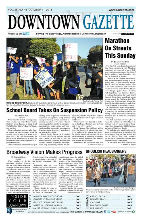 Downtown Gazette  |  October 11, 2013