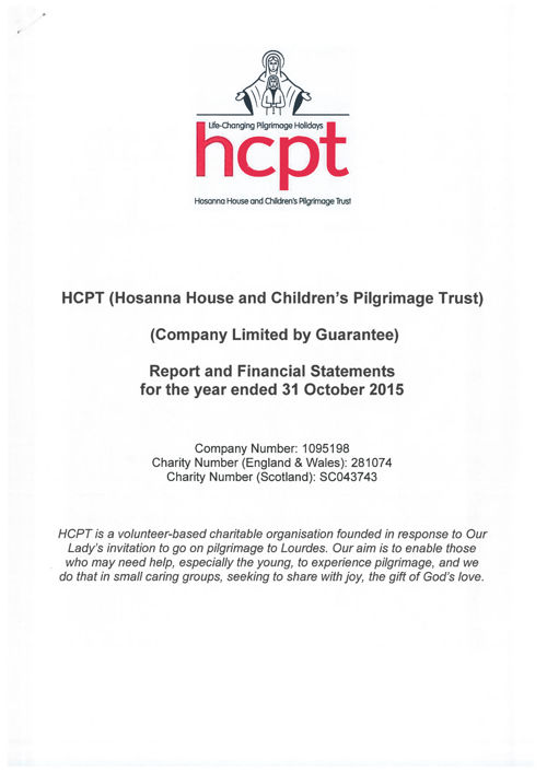 HCPT - final signed Accounts 2015