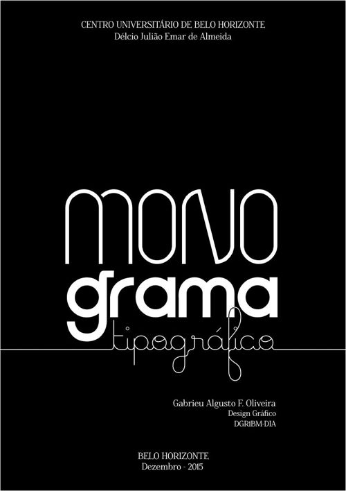 MONOGRAMA / TIPOGRAFIA - UniBH