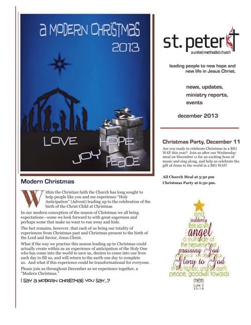 December/Christmas Newsletter 2013