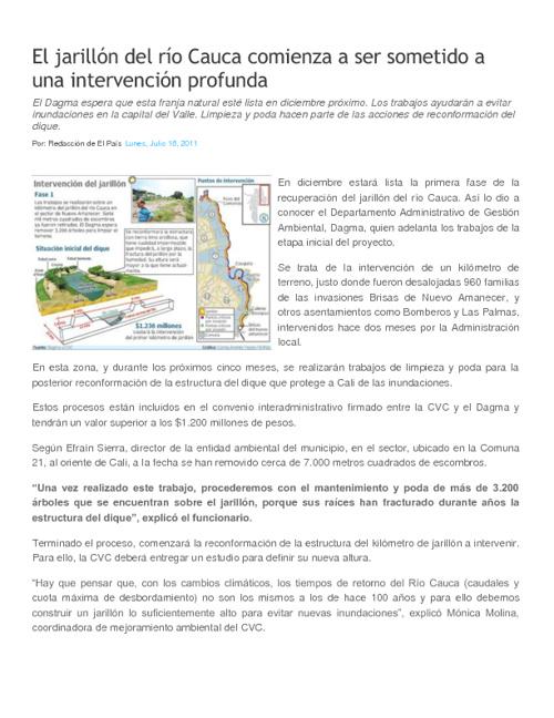 Informe Rio Cauca