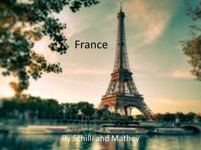 France Sam Schilli and Justin Mathey