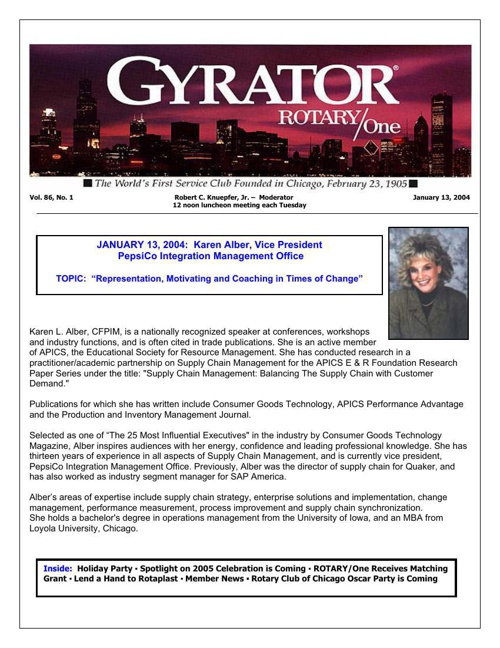 Gyrators January to June 2004