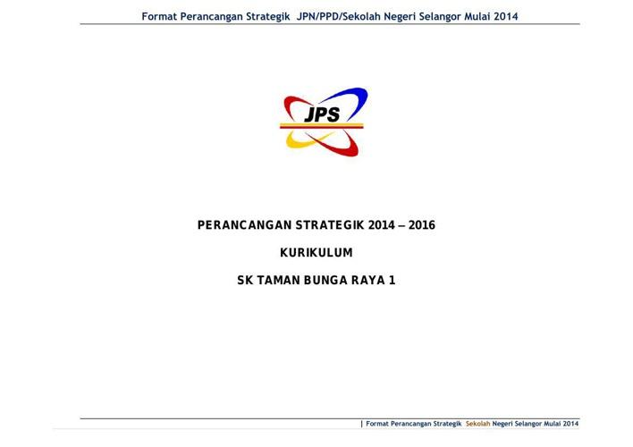 Pelan Strategik Kurikulum 2014-16 SKTBR1