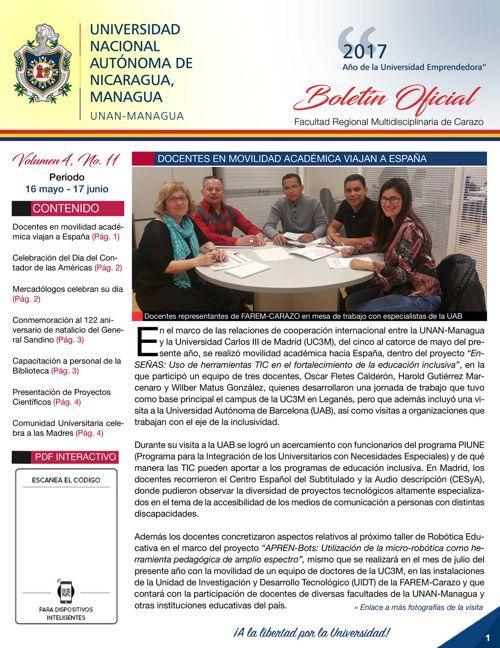 Boletín Oficial (Vol4. Núm.11)