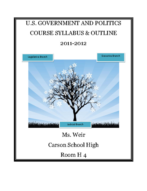 Period 3 Government Syllabus & Class Outline