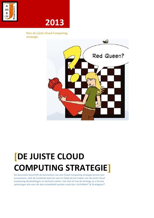 Cloud Computing Strategie
