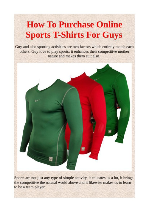 How To Purchase Online Sports T-Shirts For Guys