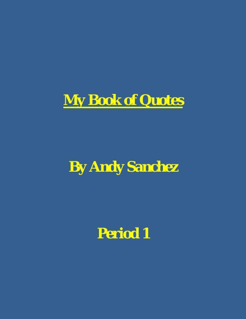 My Book of Quotes title page