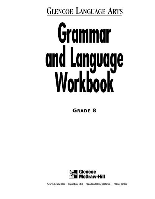 Glencoe Grammar & Language Handbook