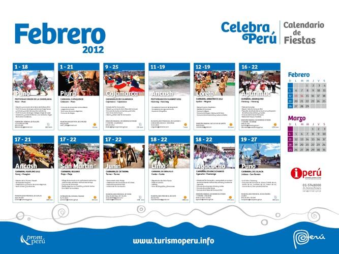 Calendario de Fiestas Febrero 2012