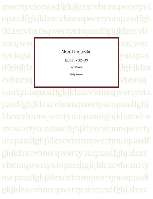 Knavel - Non Linguistic