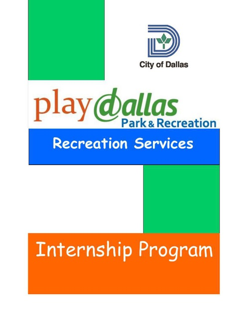 Dallas Park and Recreation Internship Program