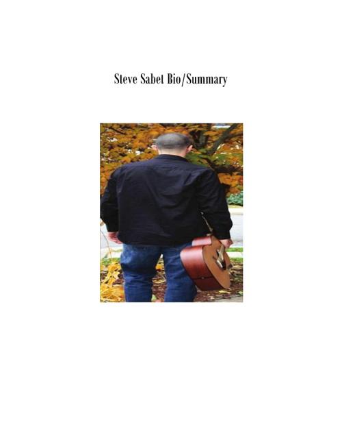 Steve Sabet Bio/Summary