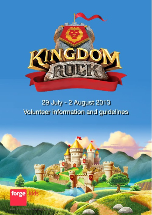 Kingdom Rock Volunteer Booklet