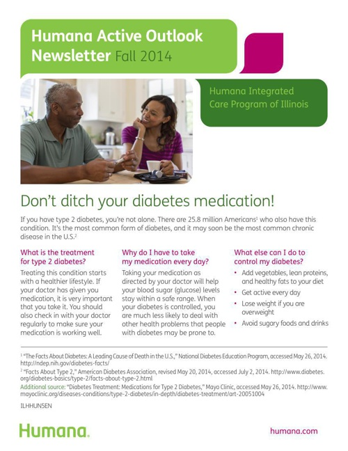 Humana Active Outlook Newsletter - Fall 2014