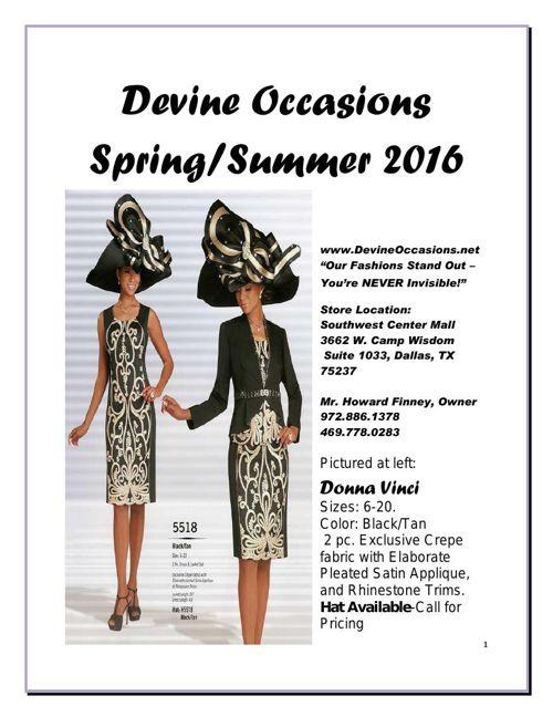 Devine Occasions Spring/Summer 2016