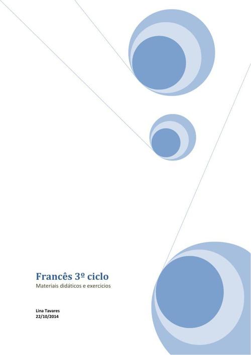 Francês 3º ciclo