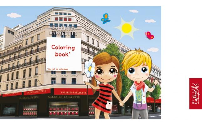 Livre de coloriage Galeries Lafayette