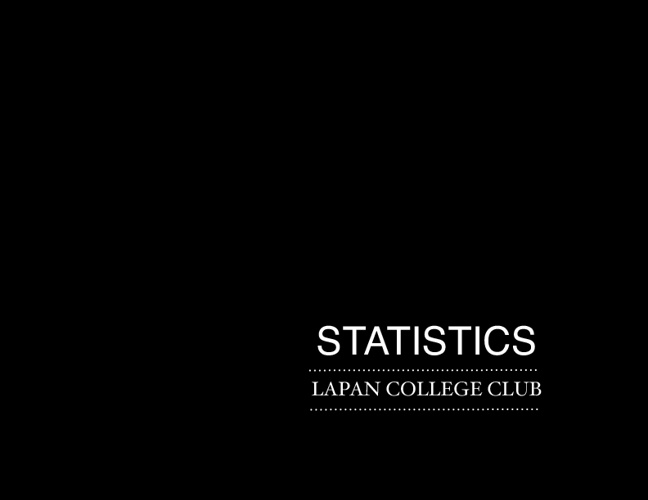 Lapan College Club Statistics