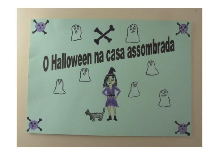 O Halloween na casa assombrada