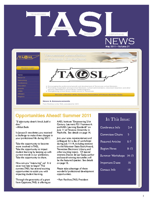 TASL News May 2011