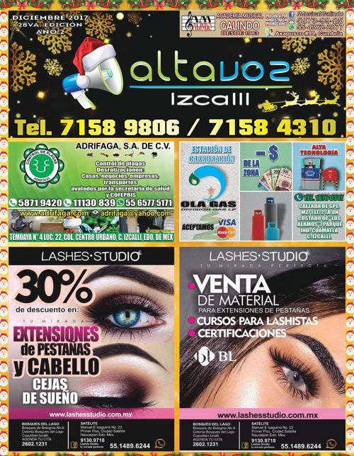 Revista Altavoz Izcalli 28va edicion Dicembre 2017 vrtl