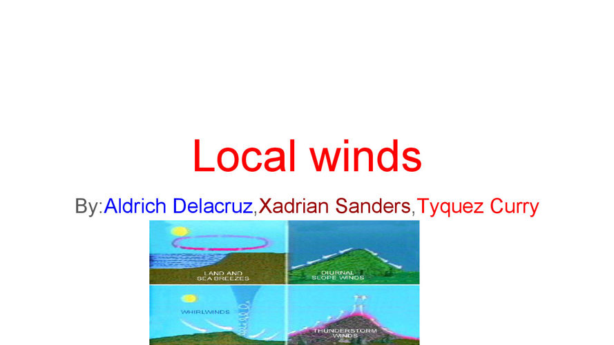 Local winds by Tyquez , Xadrian ,and Aldrich