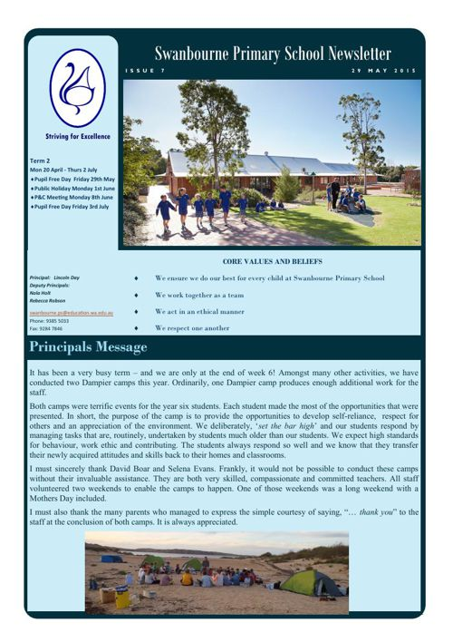 Newsletter Term 2            28.05.15
