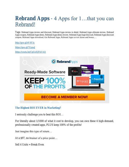 Rebrand App review - SECRETS of Rebrand App  and $16800 BONUS