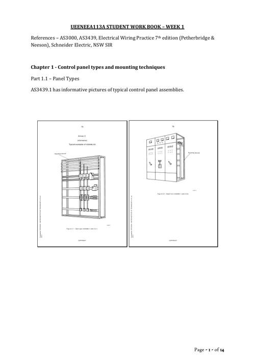 UEENEEA113A STUDENT WORK BOOK