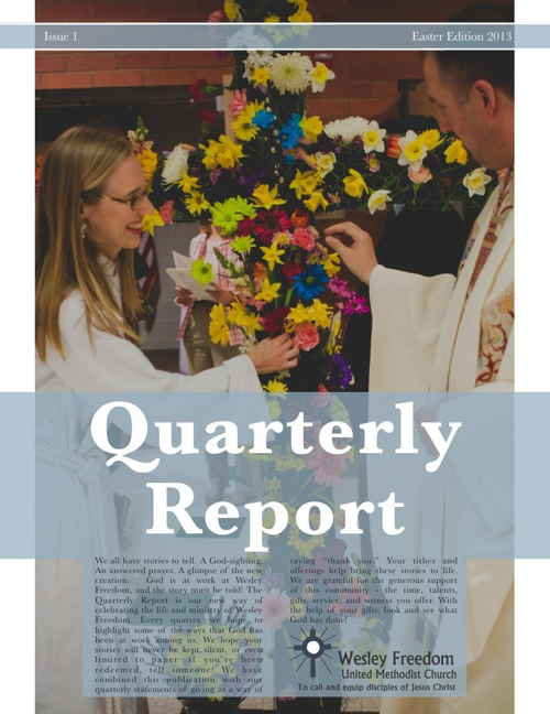 Quarterly Report Spring 2013